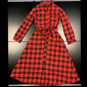 Fit and Flare 50's Style Red Checked Dress!